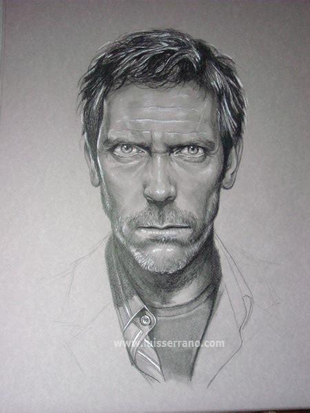 imagenes para dibujar sombreado retrato a lapiz dr house paso a paso hazlo tu mismo