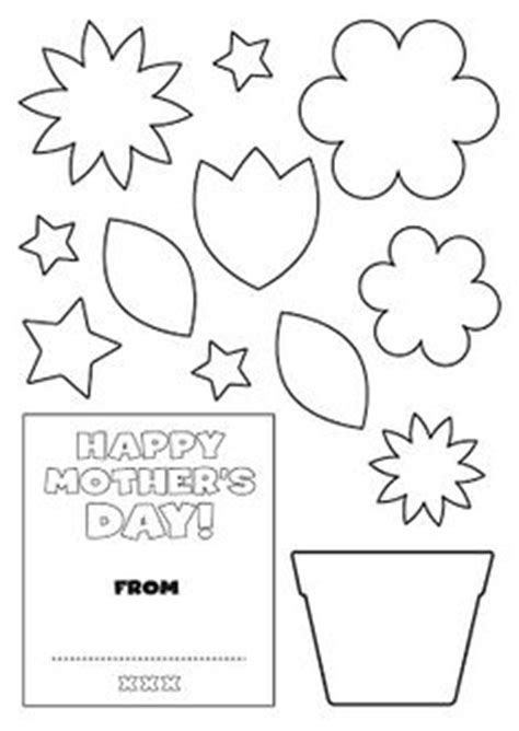 mothers day cards template office flower pot pattern use the printable outline for crafts