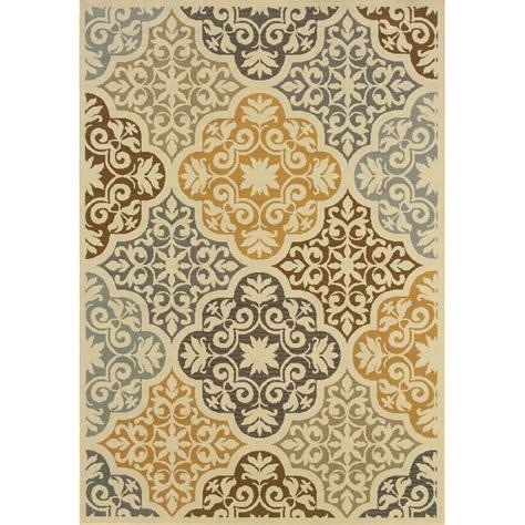 overstock gray rug outdoor indoor ivory grey synthetic area rug