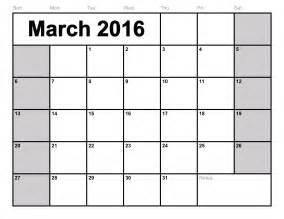 free 2016 calendar templates march 2016 calendar printable template 8 templates