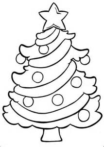 Coloring pages christmas tree easy christmas coloring pages of kids