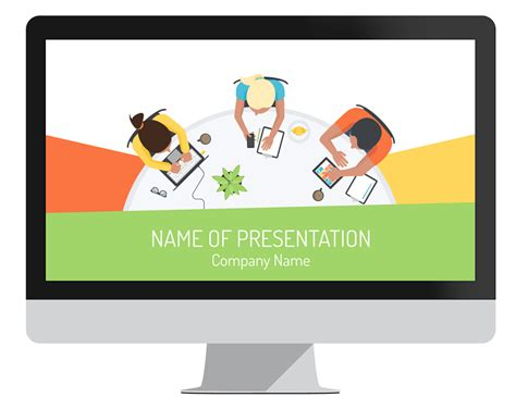 conference presentation template ppt staff meeting powerpoint template presentationdeck