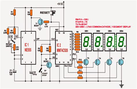 simple projects using integrated circuits simple digital stopwatch circuit