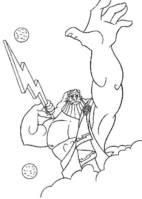 Hercules Zeus Coloring Page