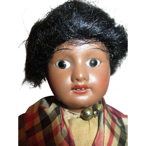 bisque black doll antique black bisque doll from nostalgicimages