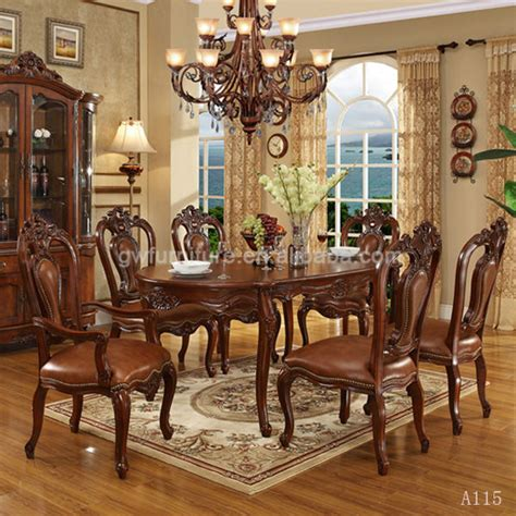 Italian Dining Room Sets Classic Italian Dining Room Sets With Leather Dining Chair