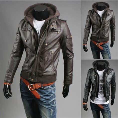 Jaket Hoodie Zipper Size L mens leather jacket sale s leather jacket hoodie