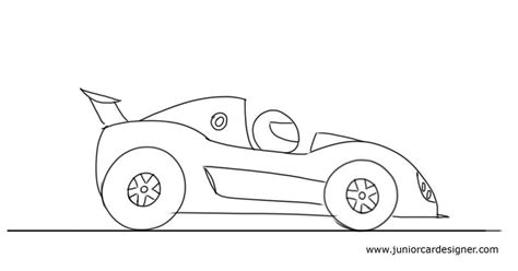 cartoon race car how to draw a cartoon race car junior car designer
