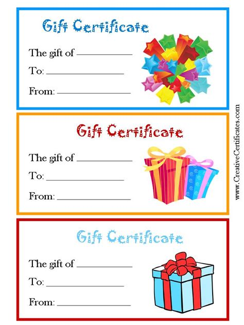 Printable Shopping Gift Vouchers | pricey vs priceless gifts organized by choice