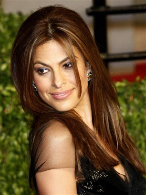 eva mendes hair color eva mendes highlighted hairstyle
