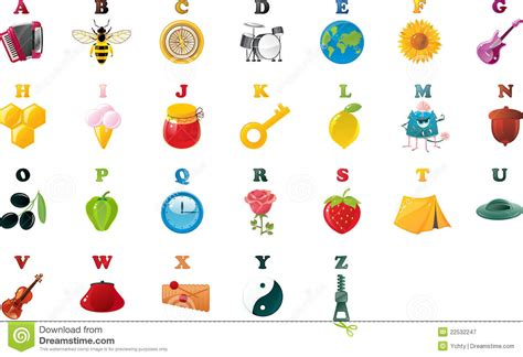 abc book pictures abc book alphabet with pictures in vector royalty free