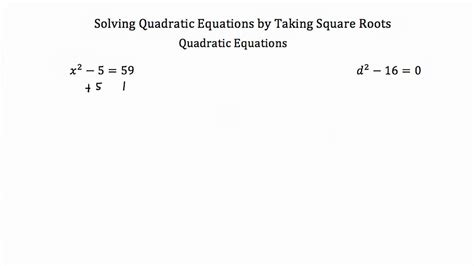 Solving Quadratic Equations By Finding Square Roots Worksheet by Solving Quadratic Equations By Taking Square Roots