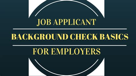 Employment Background Check Policy Usa Criminal History Information Background Investigation Records Il
