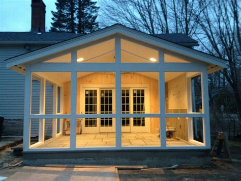 bluestone beadboard screened porch sapia builders corp