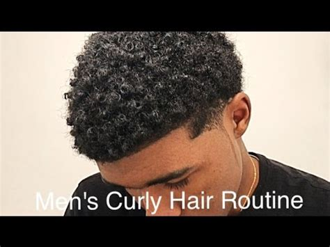 black boy pubes curly how to get curly hair for men hair routine youtube