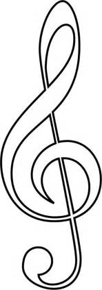 musical notes template note outline cliparts co