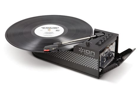 decks records duo deck ultra portable digital conversion turntable