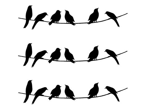barrette birds on wire medium 3 pcs 3 1 4 quot black 470 or