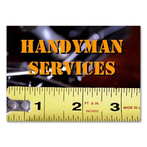 handyman buisness card templates 1978 best images about handyman business cards on