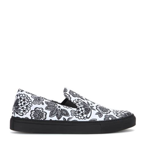 Slip On Els Gucci Hitam christopher printed canvas slip on sneakers in white lyst
