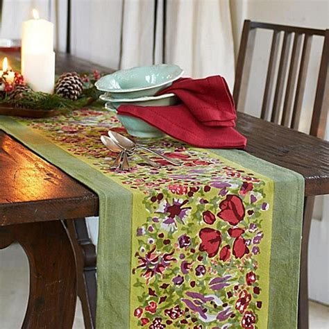 couleur nature table runner couleur nature jardine table runner bed bath beyond