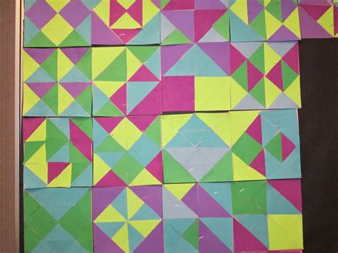 Geometry Quilt Project by Artistry Of Education Quilt Square Project 3