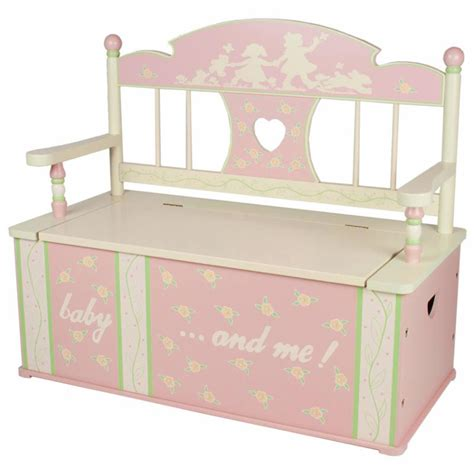 girls toy box bench rock a my baby toy box bench by levels of discovery