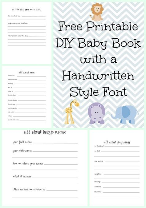 printable baby book template pages 25 best ideas about baby memory books on pinterest baby