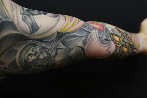usc tattoo usc library sleeve mike demasi by mike demasi