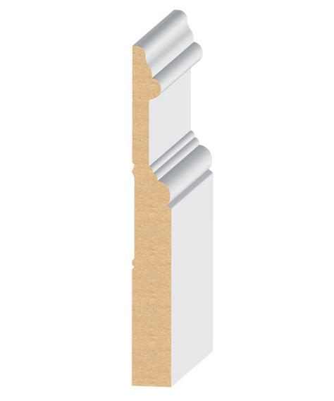 mdf quot el el wood products crescent mdf baseboard moulding 5 3