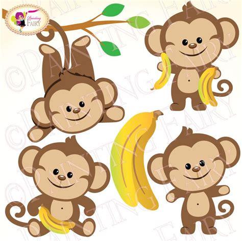 buy clipart clipart buy 2 get 1 free lovely boy monkeys bananas