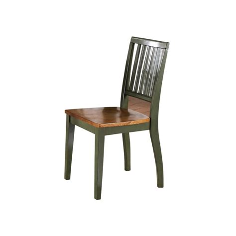 Silver Dining Chair Steve Silver Company Candice Dining Chair In Oak And Green Cd450sg