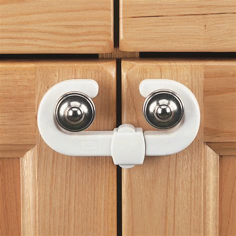Lock For Cabinet Doors Clippasafe Cabinet Cupboard Slide Locks 2 Pack Child Safety Keep Doors Closed Ebay