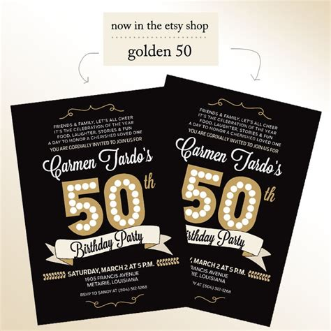 sle 50th birthday invitations 50th birthday invitations for him 1964 aged to perfection
