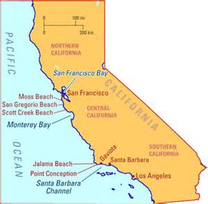map of california coastline beaches tar balls from southern california seeps appear on central