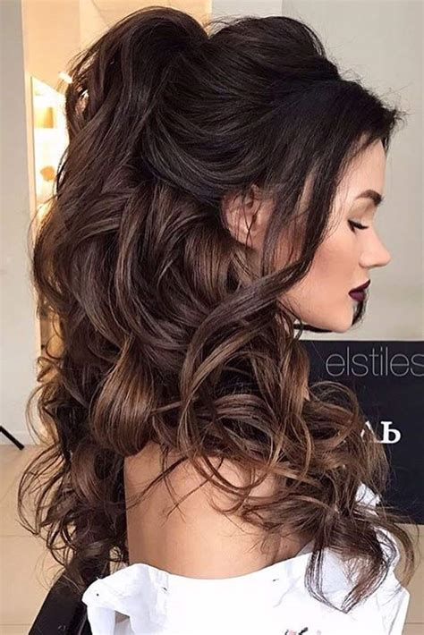 hairstyles for long hair and up chic half up bridesmaid hairstyles for long hair