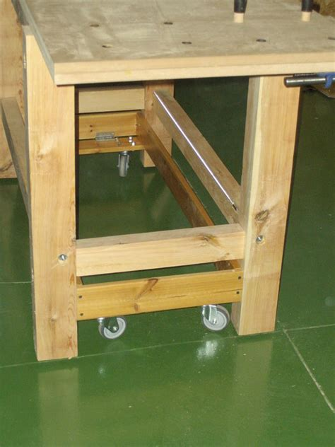 mobile woodworking bench woodwork woodworking bench mobile pdf plans