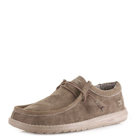 dude shoes mens dude shoes wally nut wallaby comfort casual canvas