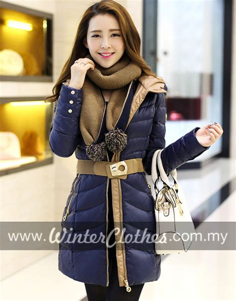 clothes to wear for a women in mid 30 women elegant slimfit mid long down jacket winter coat