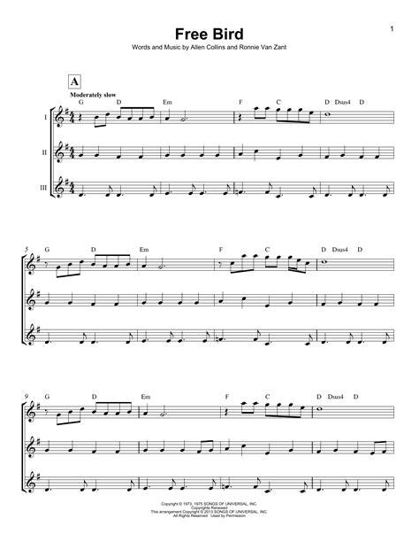 lynyrd skynyrd ukulele free bird by lynyrd skynyrd ukulele ensemble guitar