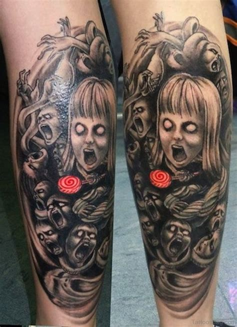 zombie tattoo 51 horror tattoos for leg