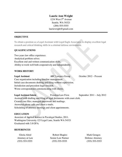 exle of paralegal resume 15 best assistant tips images on