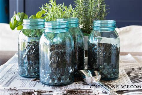indoor mason jar herb garden   kitchen  sutton place