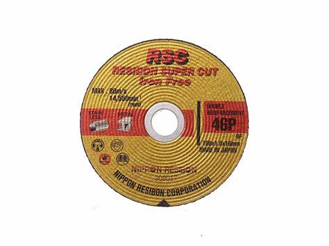 Nippon Resibon 4 Batu Potong 46p Cut Iron Free Cutting Wheel 46 jual nippon resibon rsc 46p nagasaki center