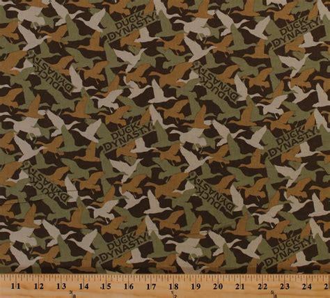 nature camo pattern cotton duck dynasty 174 ducks camouflage camo birds waterfowl