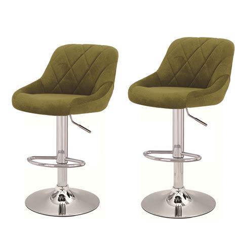 Green Swivel Bar Stools joveco 360 degree swivel adjustable upholstered bar stools