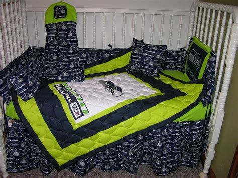 seahawk bedding crib bedding nursery set made w seattle seahawks double