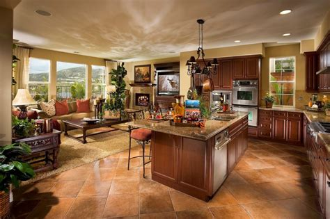 open floor plan kitchen living room classic open kitchen and minimalist living room decors