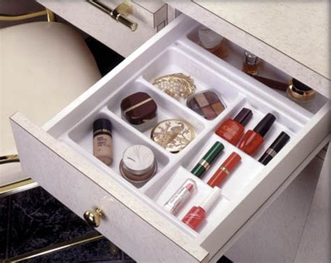cosmetics organizer for bathroom vanity by gold