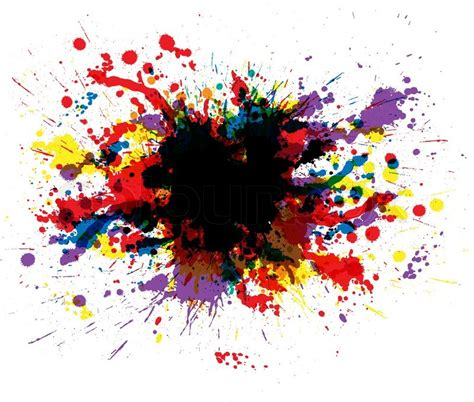 color paint splashes stock vector colourbox